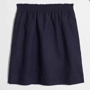 J. Crew Navy Linen Blend Skirt sz. 6